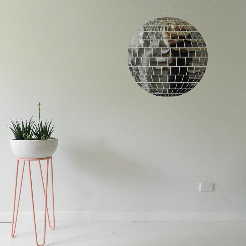 mirrorball wall decal