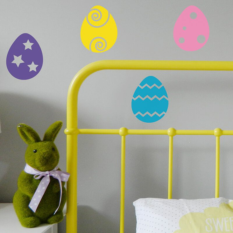colourful easter egg wall window decals