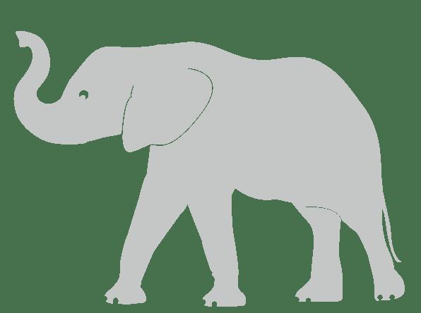 elephant trunk up wall sticker grey