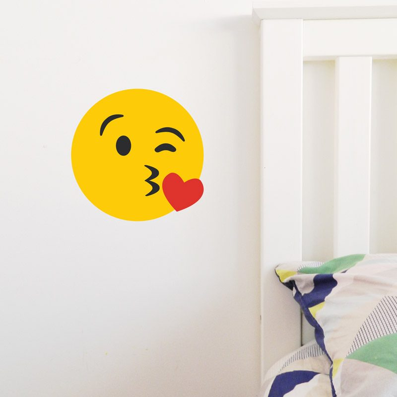 tween wall decor emoji kiss