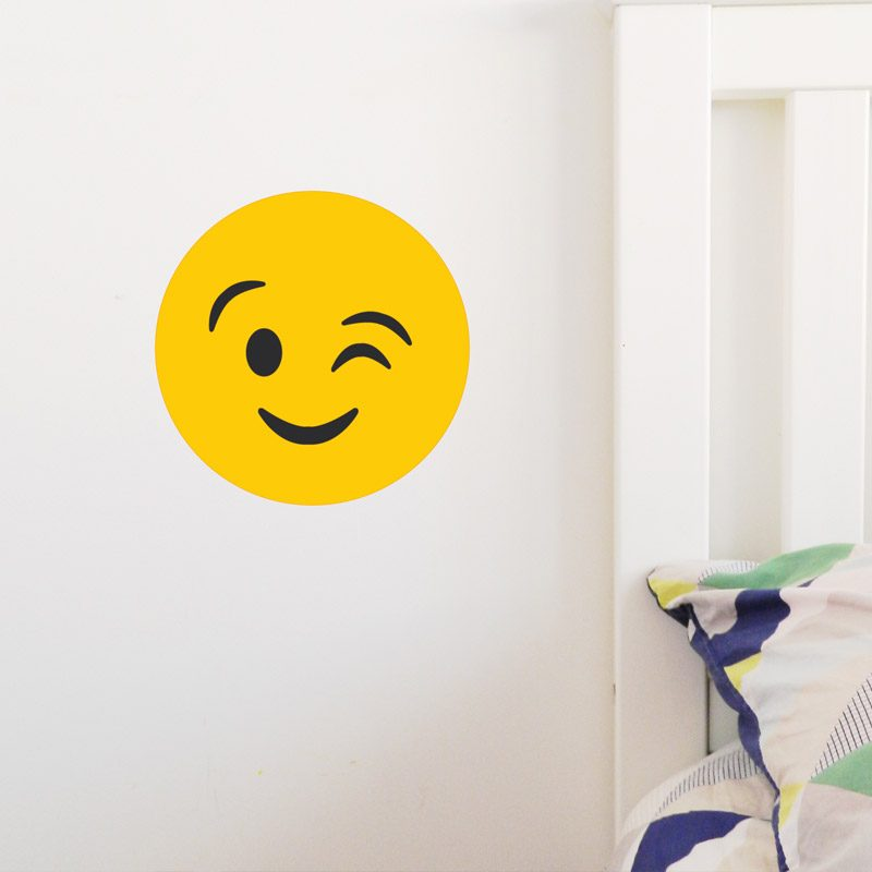 Emoji Wall Sticker tween wall decor emoji wink