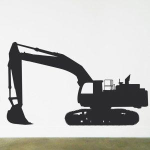bob cat digger excavator wall sticker