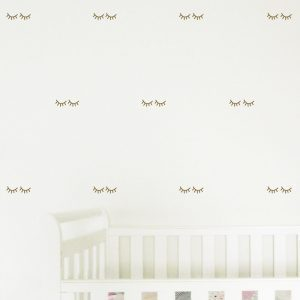Eyelash Wall Stickers sleepy eyelashes wall decals nursery