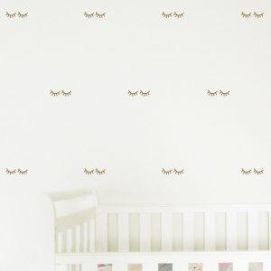 Eyelash Wall Stickers sleepy eyelashes wall decals nursery