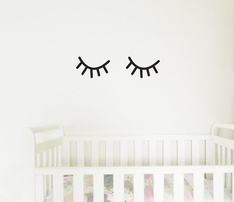 eyelashes wall stickers