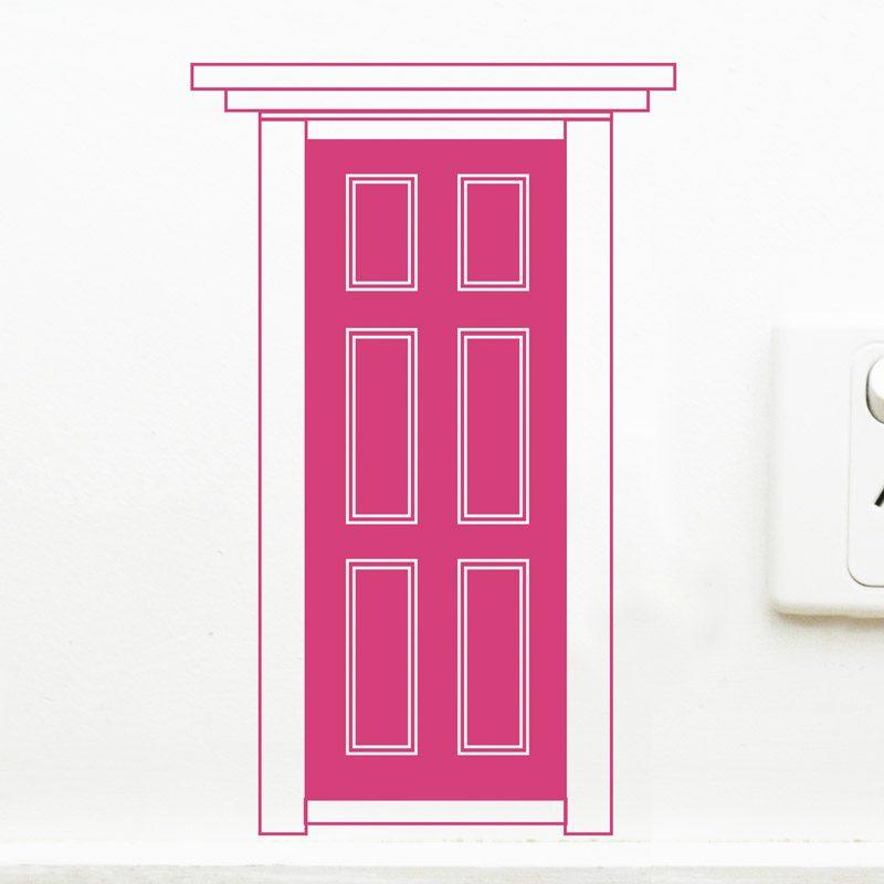 pink fairy door wall decal