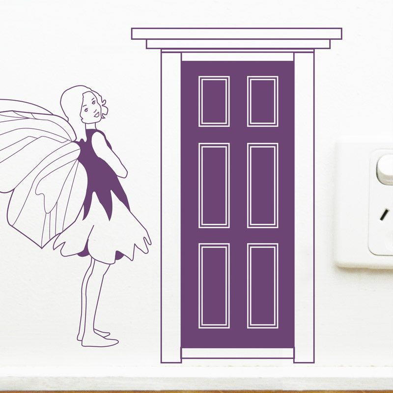 tiny fairy door wall decal
