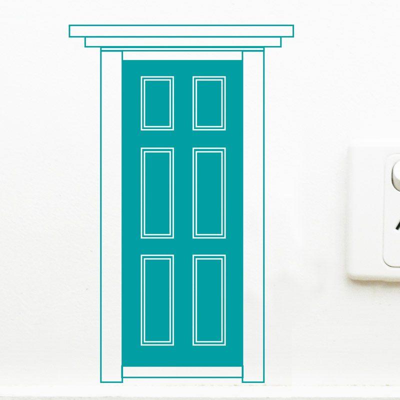 Turquoise fairy door wall decor girls room