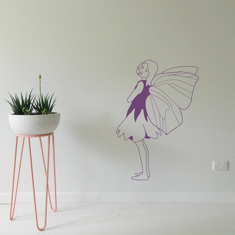 purple fairy wall decor nursery