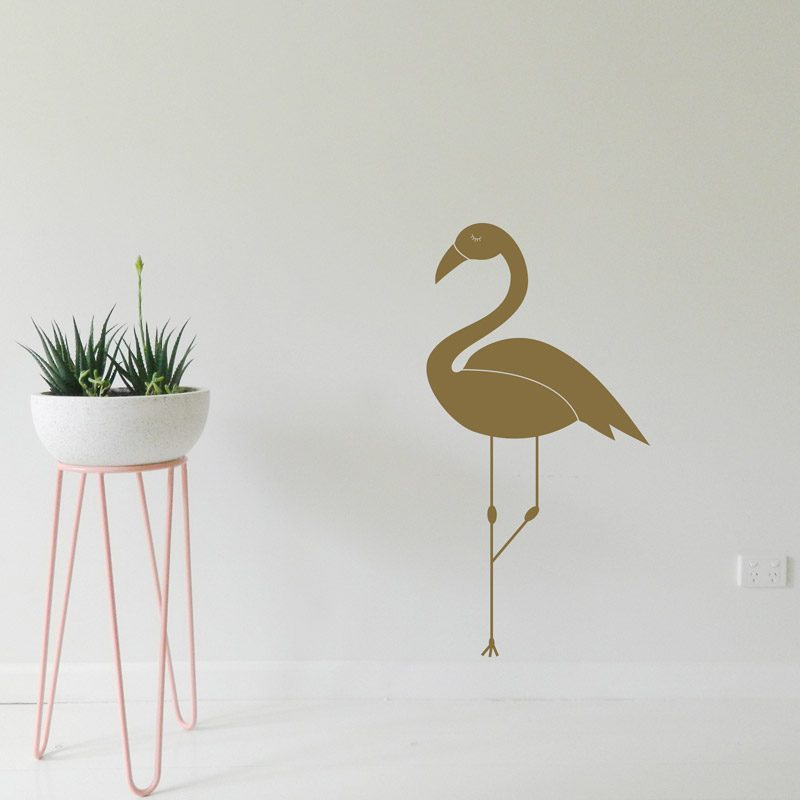 gold bird wall art