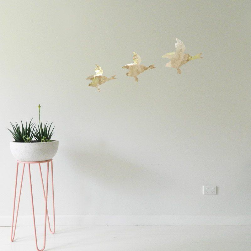 duck wall decor 3 flying ducks