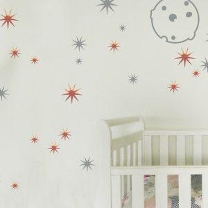 stars moon wall stickers moon stars nursery stickers