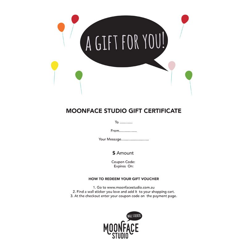 gift certificate wall stickers
