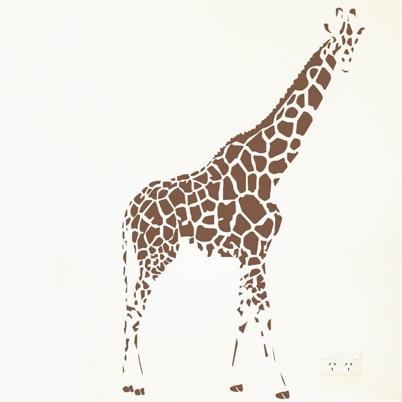 Giraffe wall Sticker stencil art decal
