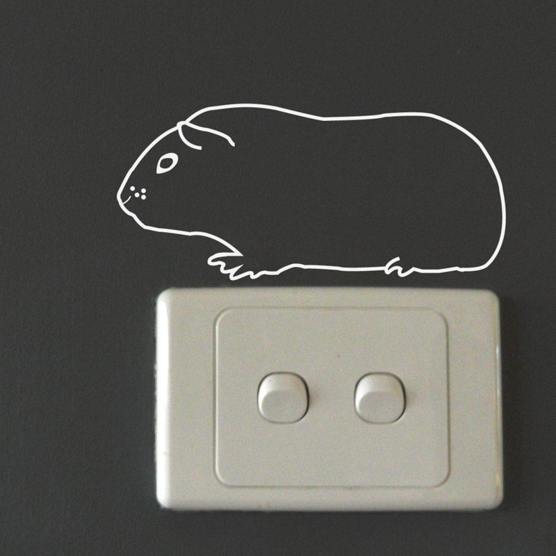 Guinea Pig Wall Sticker small pet wall decal