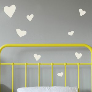 heart wall decals girls bedroom walls