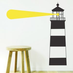 lighthouse wall sticker stripy nautical wall decal