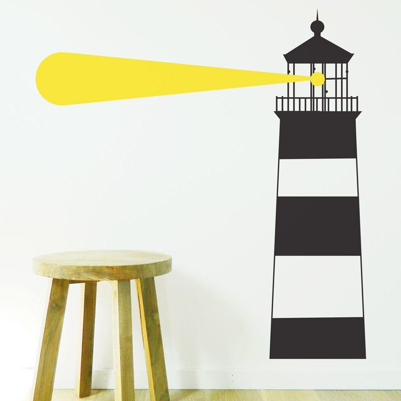lighthouse wall sticker stripy nautical wall decal