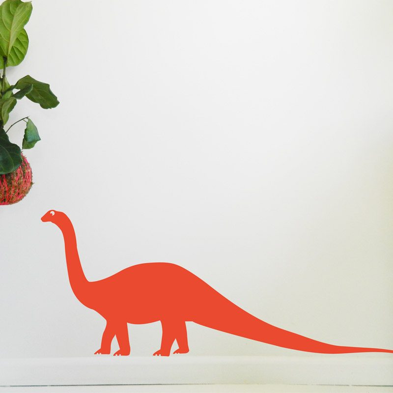 orange plant eating dinosaur