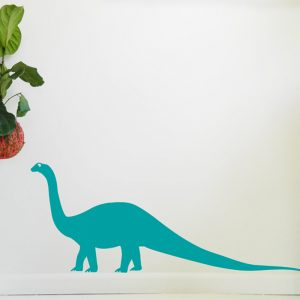 brontesaurus dinosaur wall art