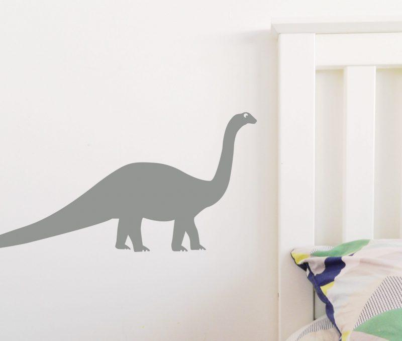 dinosaur long neck grey
