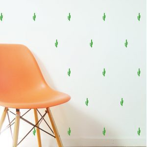 cactus wall stickers wall paper