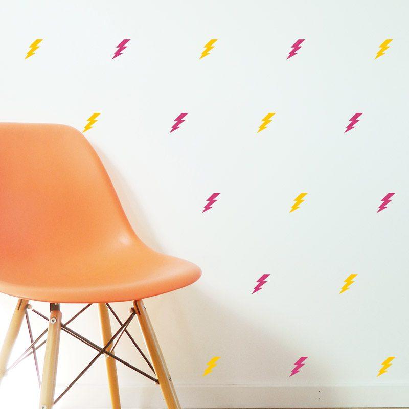lightning wall stickers pattern wall decals lightning strikes