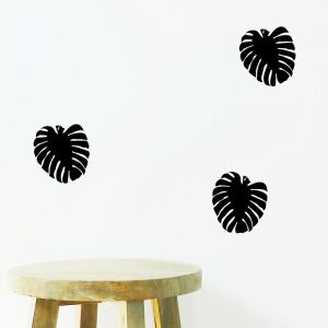 monstera leaf wall sticker swiss cheese leaf wall decal