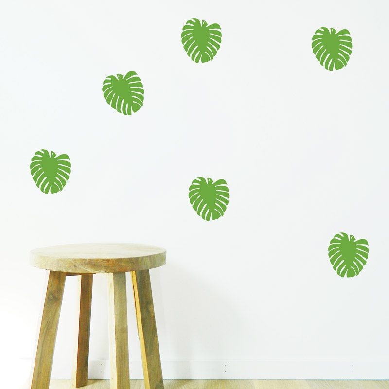 swiss cheese leaves wall decor