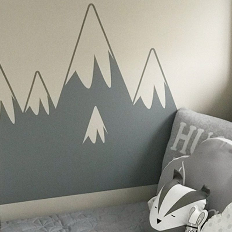 mountain wall sticker snow topped mountain wall decal