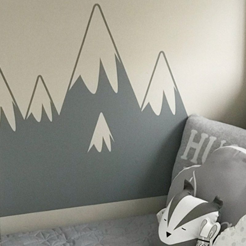 mountain wall sticker | kid's space | made in australia