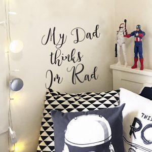 rad quote wall sticker custom text wall sticker boys room