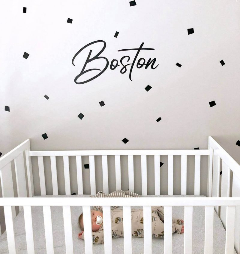 name removable decal nursery