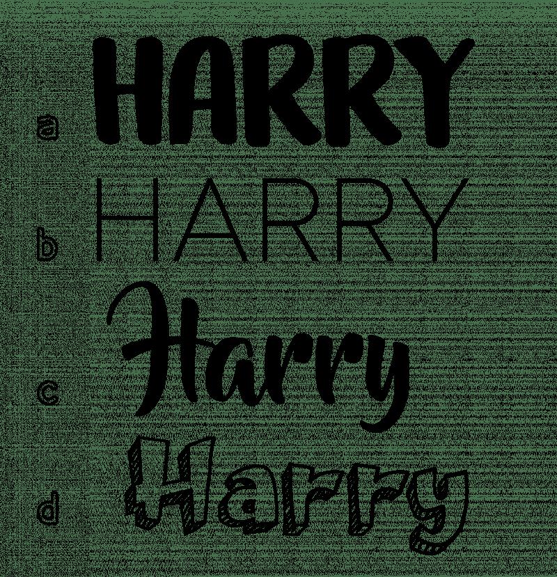 name fonts