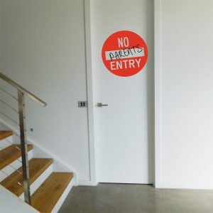 No Entry Sign Wall Sticker teen door sign