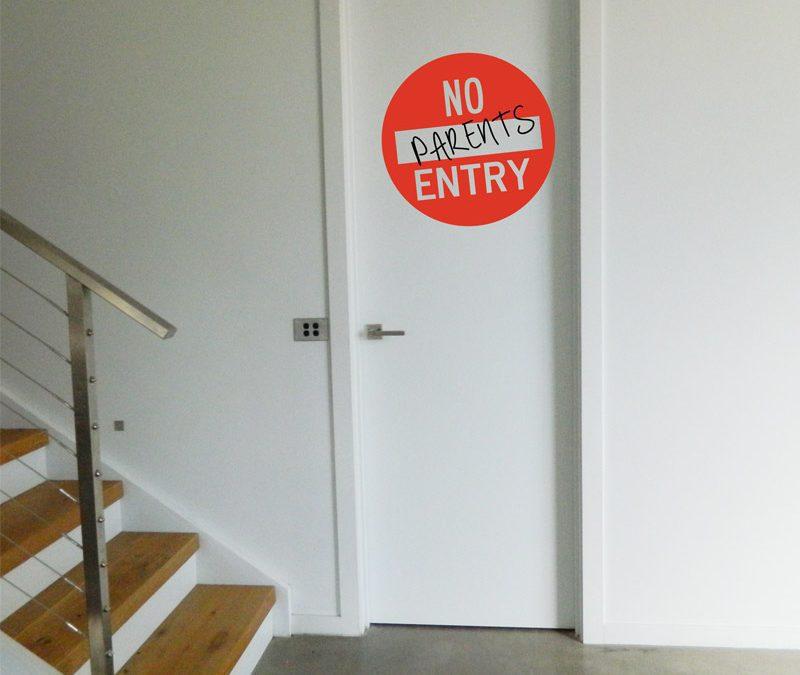 No Entry Sign Wall Sticker teen door sign
