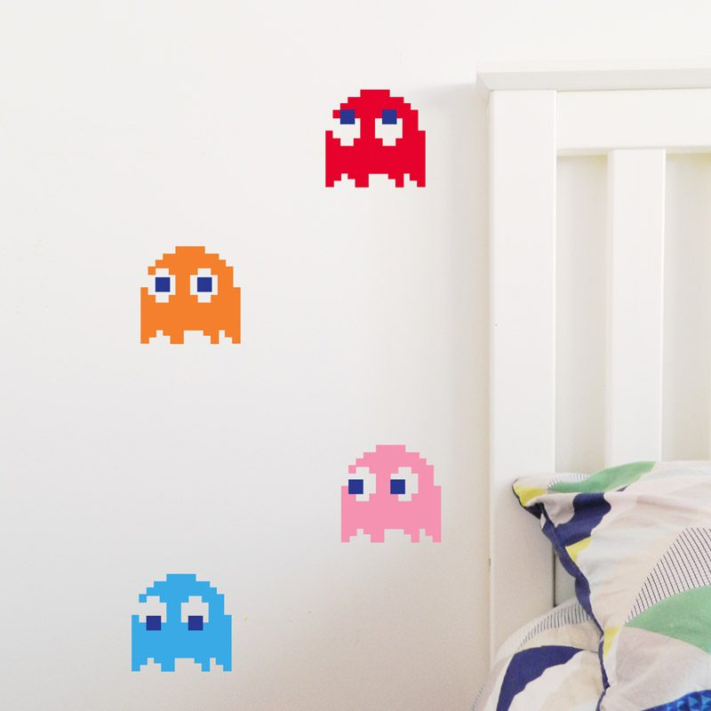 80's video game wall decals