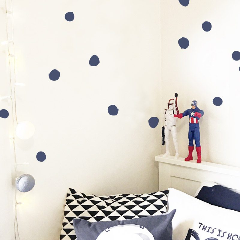 polka dot wall stickers (hand drawn) | kid's space | made in australia