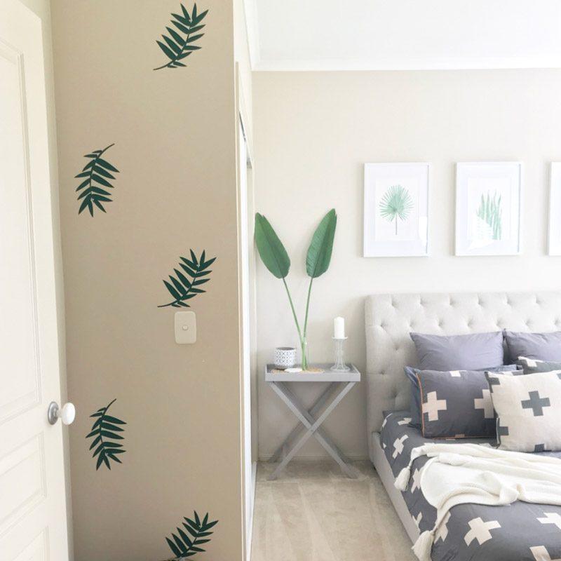 palm leaf wall sticker bedroom