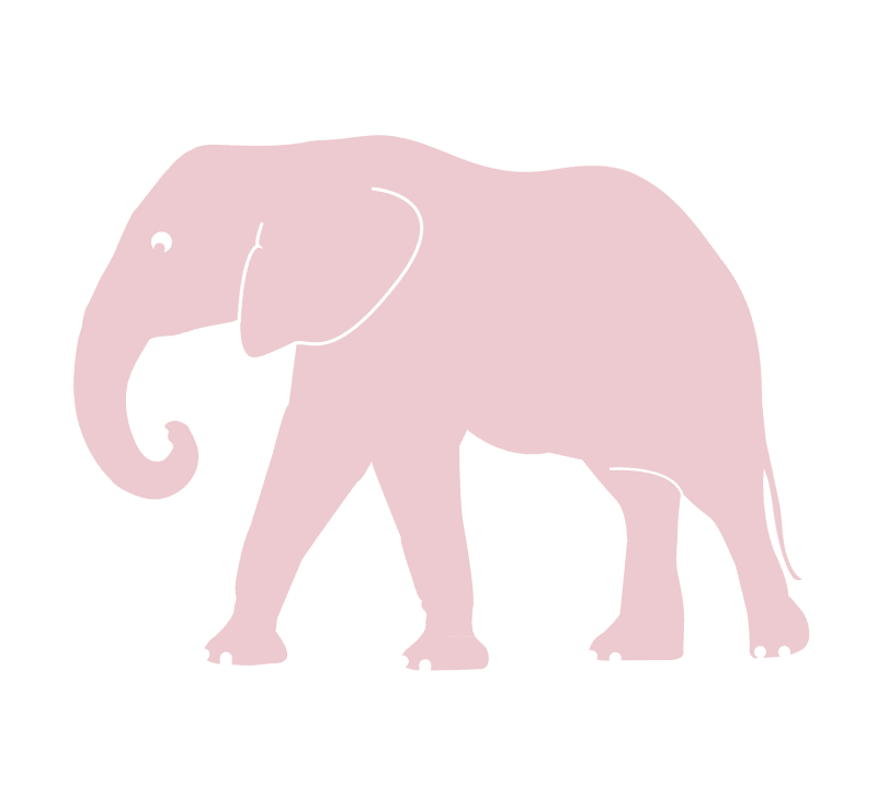 pink elephant vinyl wall sticker