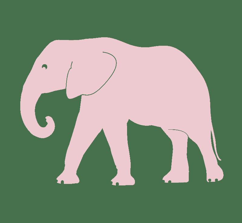 pink elephant vinyl wall sticker
