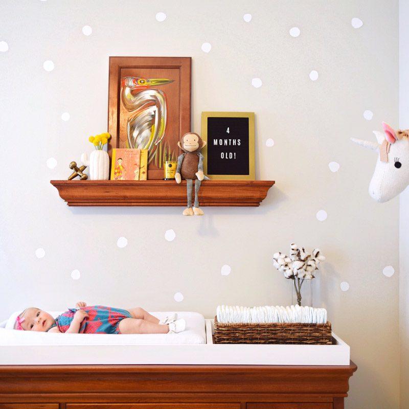 polka dots white wall sticker