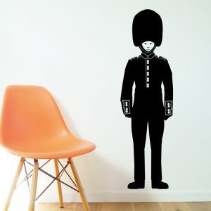 Queen's Guard Wall Sticker buckingham palace queens royal guard wall decal black