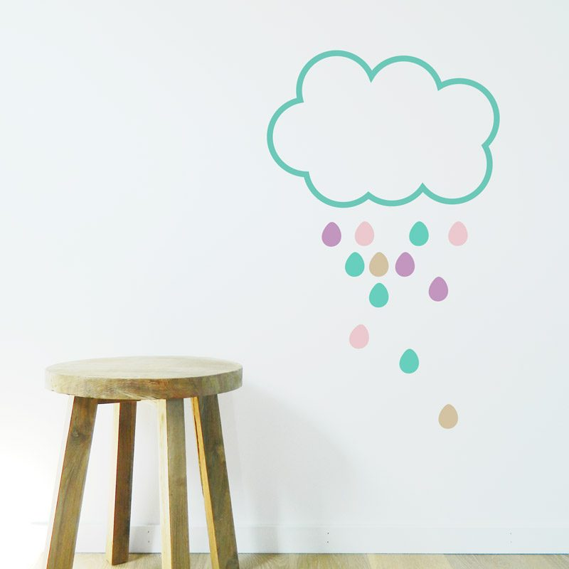 kids walls raincloud wall decal