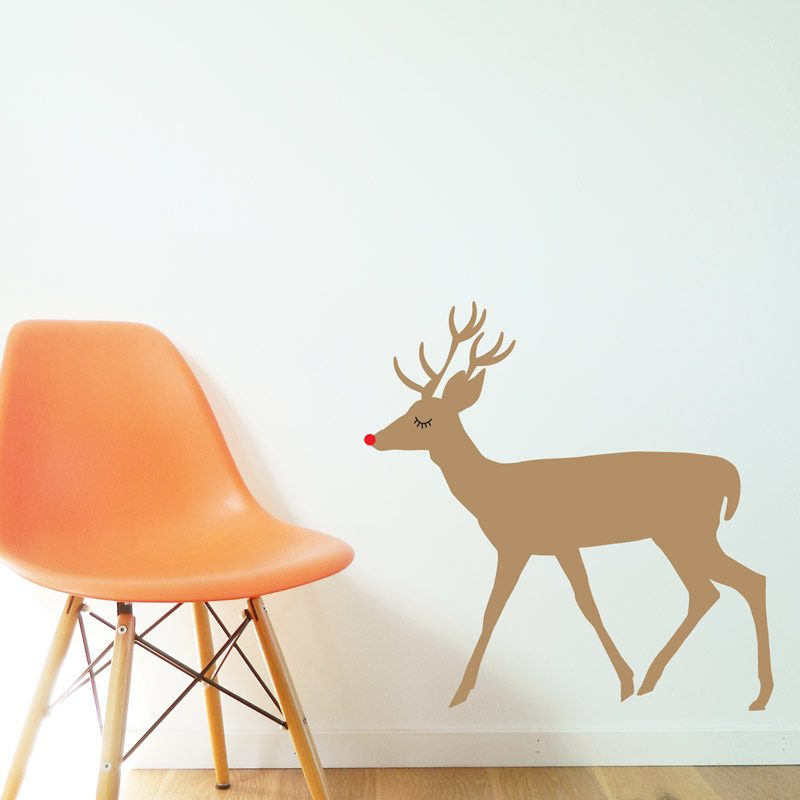 Reindeer Wall Sticker light brown reindeer wall decal