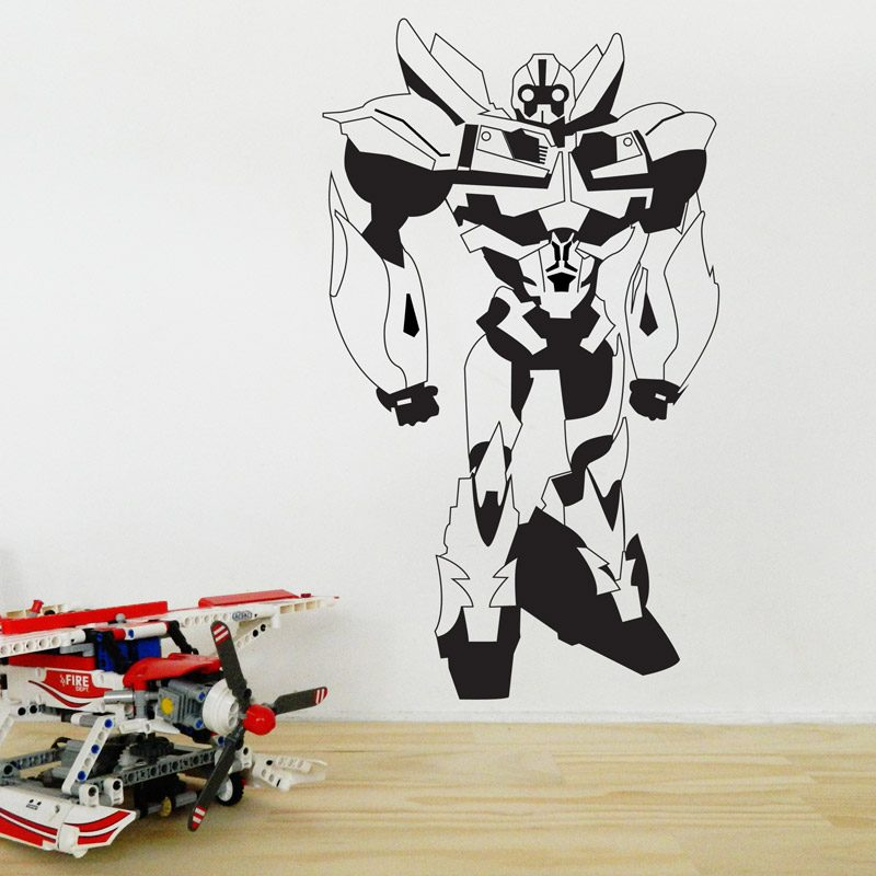 robotic wall sticker transformer wall decal