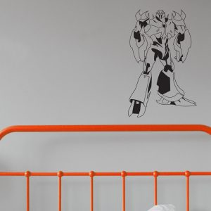 robot mega wall sticker transformer wall decal boys room