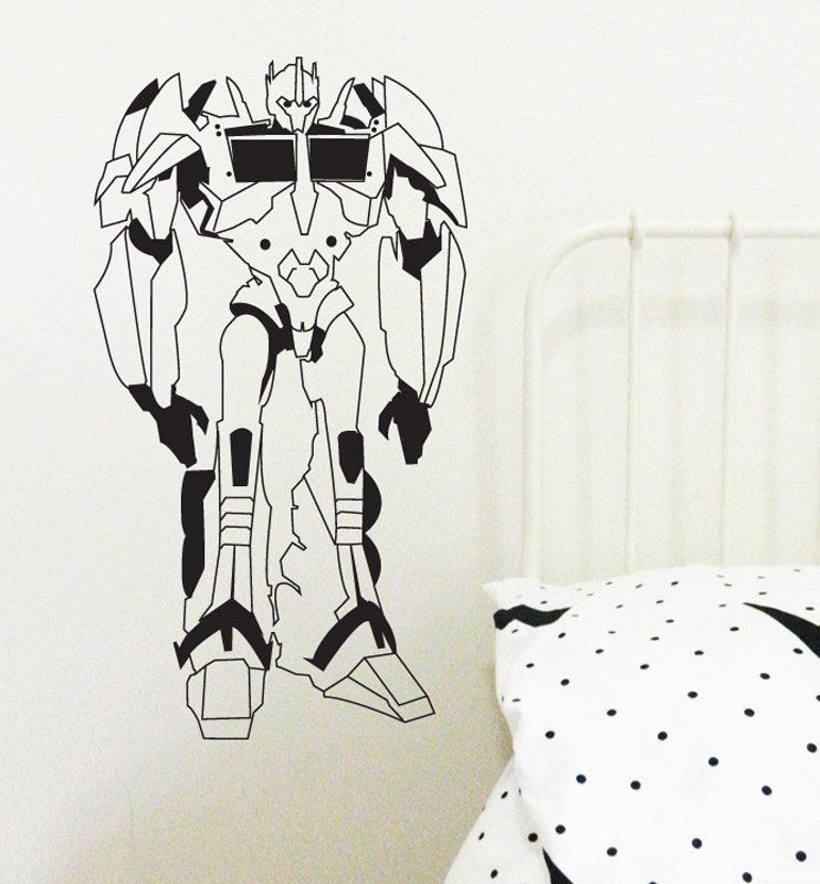 robots wall sticker transformer wall decal