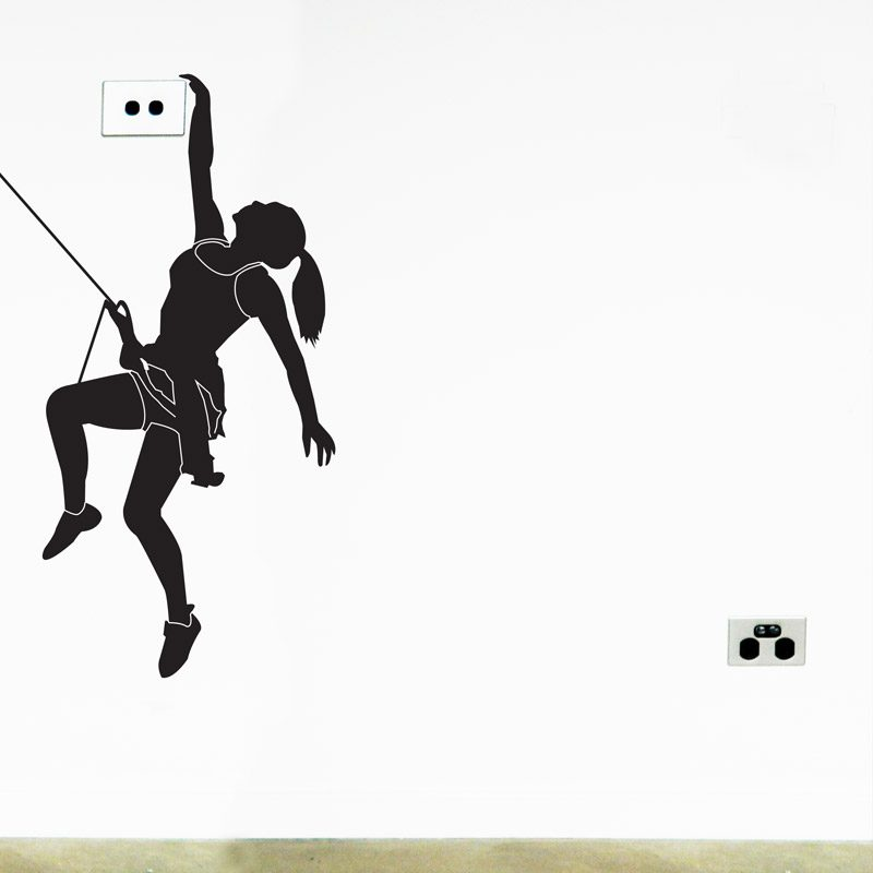 Rock Climber Wall Sticker extreme sports free climbing wall decal