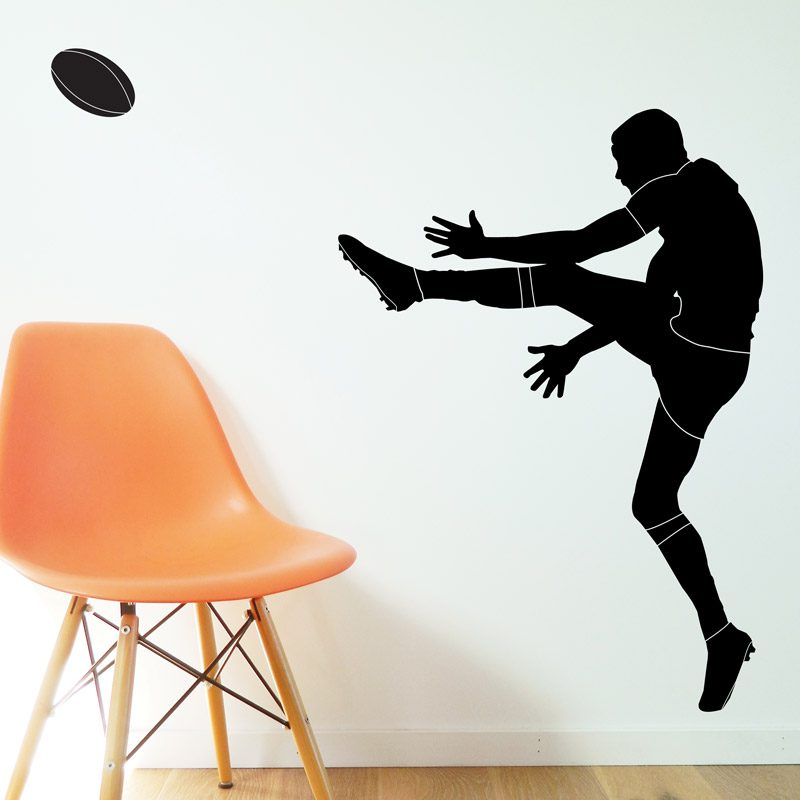 rugby player wall sticker sport bedroom rugby player wall decal